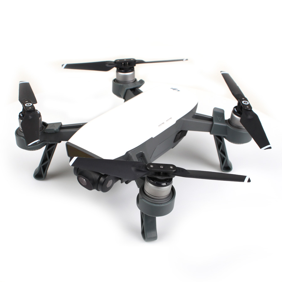 4pcs set Landing Gears Stabilizers Landing Skids Gimbal Camera Protector for DJI SPARK in Landing Gear from Consumer Electronics