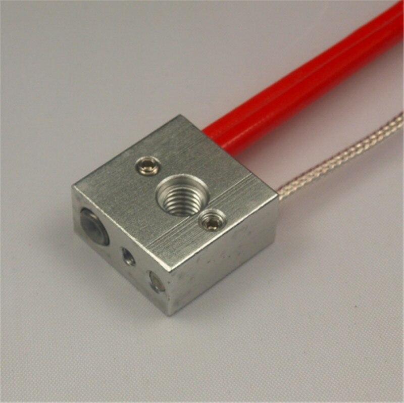ФОТО Reprap MK8 3D printer aluminum heat block kit with PT100 sensor 12V/24V 40W heater cartridge for 3d printer hot end