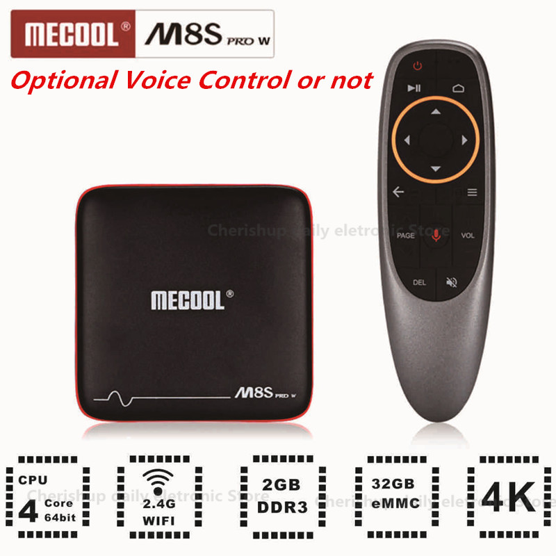 MECOOL M8S PRO W Android 7.1 TV Box 2G RAM 16G ROM Amlogic S905W CPU Mali-450 Support 2.4GHz WiFi 4K H.265 Set-top Box beelink tx95w tv box amlogic s905w cpu mali 450 gpu support 2 4g wifi bluetooth 4 0 tv set box android tv box 2g 16g memory