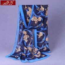 Chiffon Plant flower scarf Fashion Print adult hijab Women schal Rattan Multicolor Red shawl chain womens female scarfs shawls