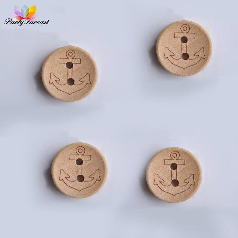 """20mm Scrapbook Craft Lot of 10 FLOWER SHAPE 2-hole Wood Buttons 3//4/"""" 1119"""