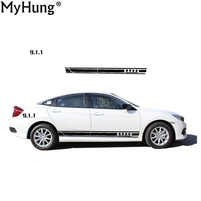 New style car sticker for honda civic personality car styling concise body stickers waterproof cars