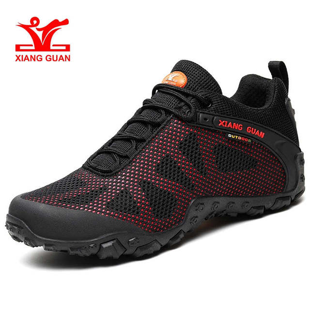 d83698d1fe477f XIANG GUAN Outdoor Sport Shoes Breathable Hiking Shoes Anti-Slip Trekking  Mountain Climbing Sneaker New Arrival