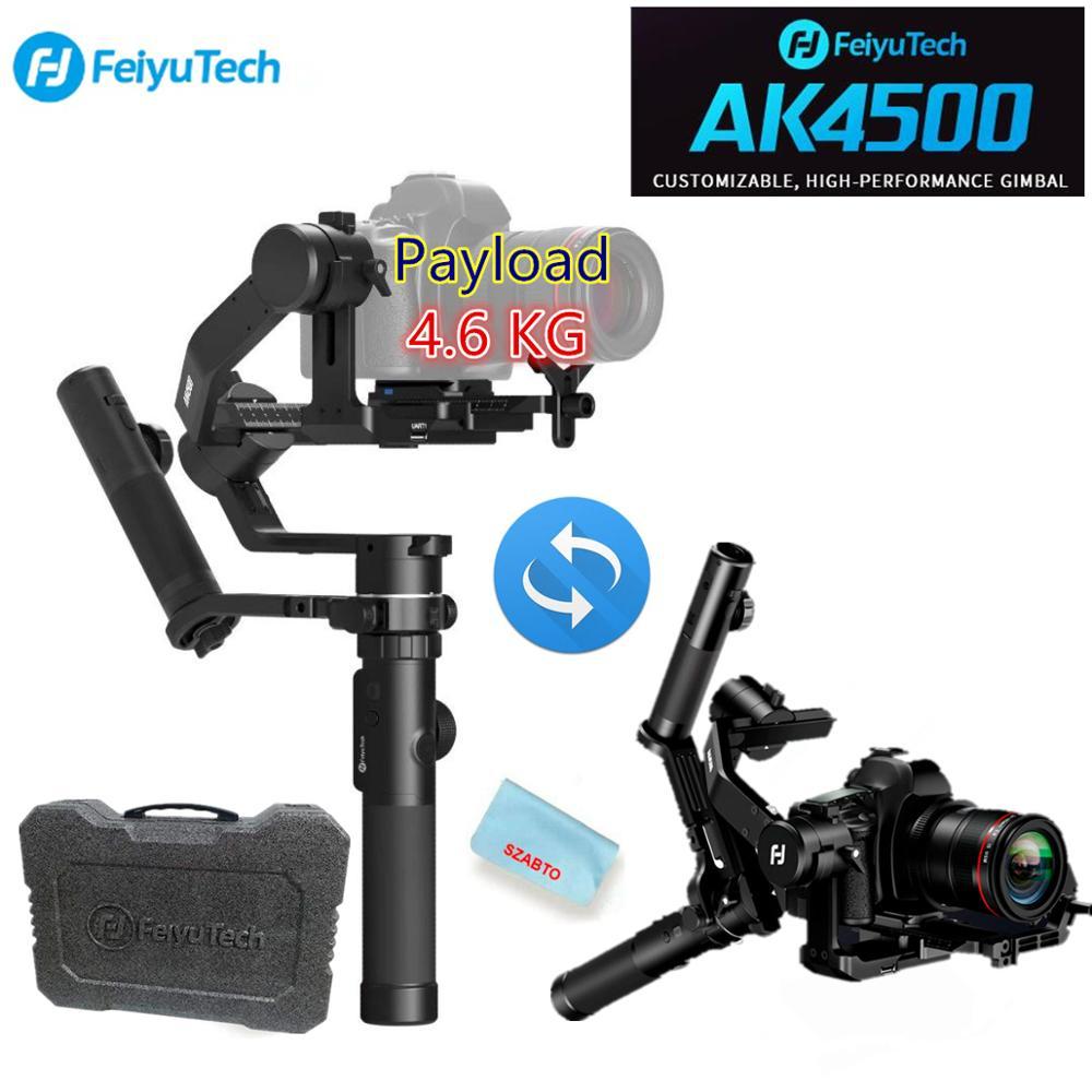 FeiyuTech AK4500 estabilizador de cámara de 3 ejes cardán de mano para Sony/Canon/Panasonic/Nikon, carga útil de LB