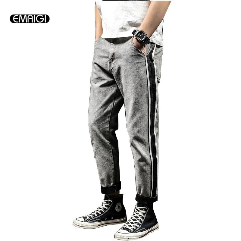 Big Size 28-40 Male Jeans Street Fashion Hiphop 100% Cotton Denim Harem Pant Men Loose Jean Trousers large size 29 42 young men jeans hole patchwork denim harem pant male fashion casual denim pant trousers
