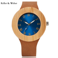 2017 New Women S Blue Face Dial Design Brand Luxury Wooden Bamboo Watches With Real