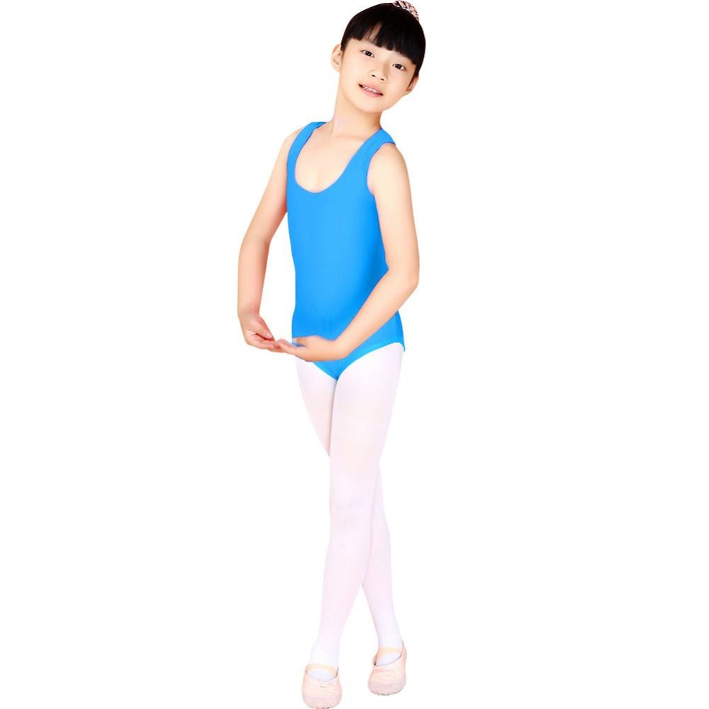 Black spandex dance unitard gymnastics and dancewear - Vest Tank Child Kid Dance Wear Bodysuit Leotard Body Top Girl Gymnastics Costume