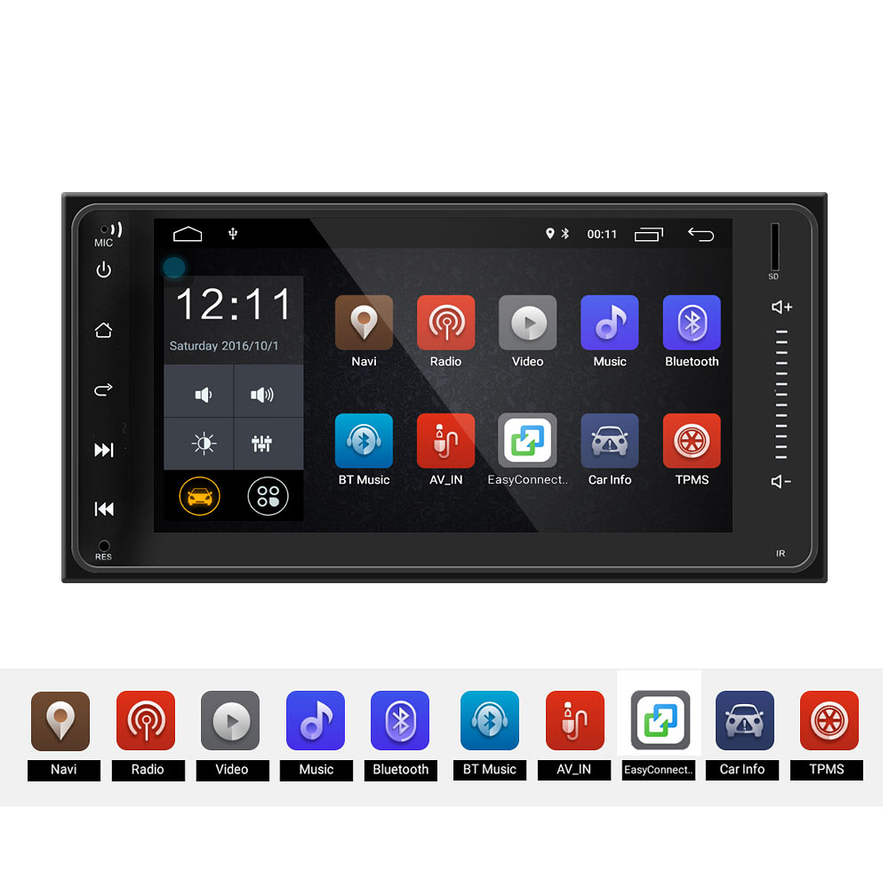 Android 6.0 system 2 DIN 7 inch Car radio Multimedia Player for COROLLA REIZ CAMRY CROWN RAV4 PRADO TFT Capacitive Touch Screen