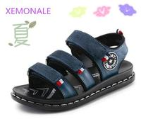 2017 Summer Male Child Sandals Children Sandals Genuine Leather Baby Boys Summer Sandals Casual Comfortable Summer