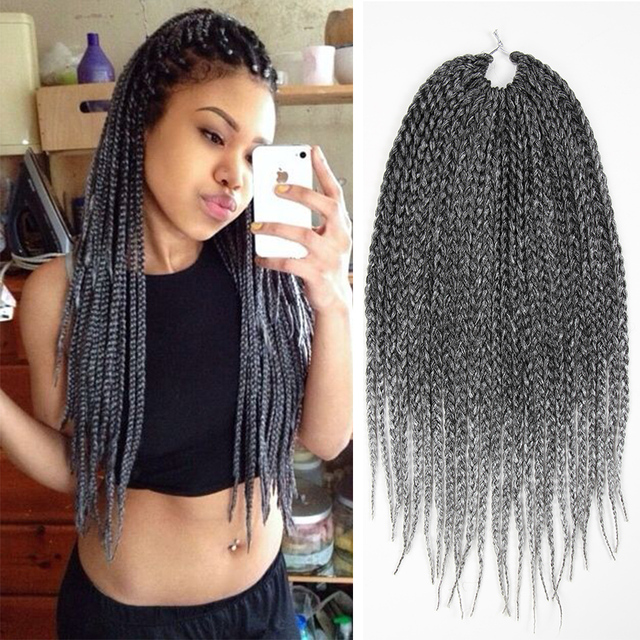 18 gray silver colorful ombre braiding hair crochet braid hair 18 gray silver colorful ombre braiding hair crochet braid hair extensions crochet box braids pmusecretfo Images