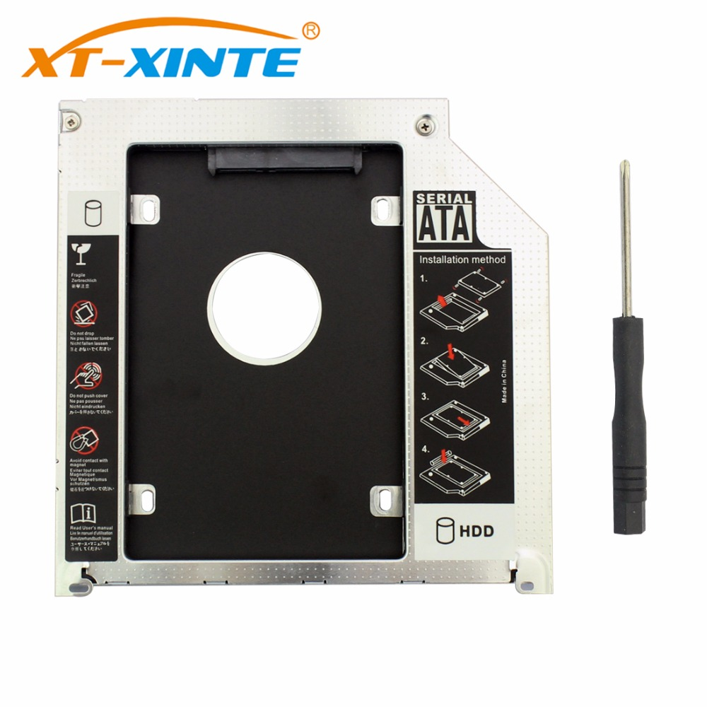 9.5mm 2nd SATA Adapter Hard Disk Drive HDD Caddy Ssd For MacBook Pro A1278 2.5