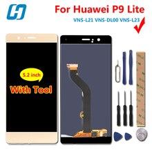 Купить Huawei P9 Lite ЖК-дисплей Дисплей Сенсорный экран Новая замена аксессуар Экран для huawei P9 Lite/G9/5,2 VNS-L21/ l22/L23/L31/L53