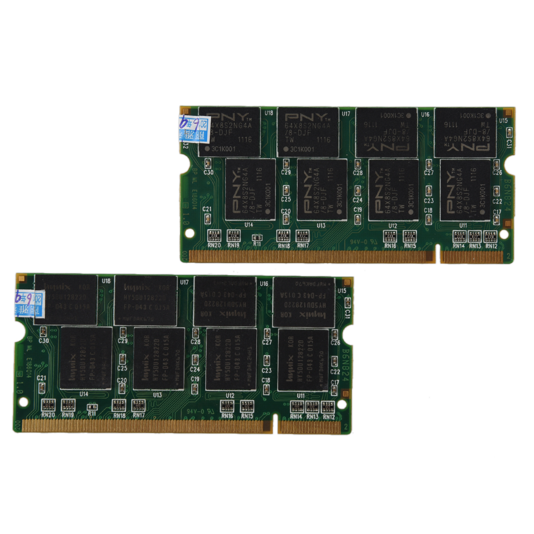 2GB 2X1GB PC2700 DDR-333 non-ecc 200 broches CL2.5 ordinateur portable (SODIMM) mémoire (RAM) nouveau