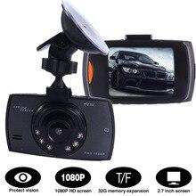 New Car Dash Cam Video Recorder DVR Pantalla LCD HD 1080 P Cámara de Visión nocturna del Tacógrafo Función del g-sensor de 2.7 Pulgadas tarjeta de 32 GB TF
