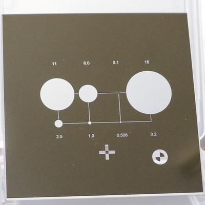 Оптическая коррекция пленка Imager Калибровочный блок проектор инструмент калибровки двухмерный микроскоп стекло коррекция пленка - Цвет: 11