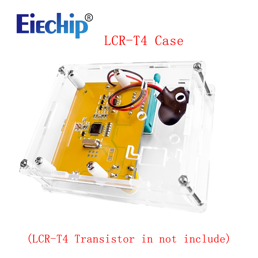 Smart Electronics LCR-T4 Box Clear Acrylic LCR-T4 Case Shell Housing For LCR-T4 Transistor Tester ESR SCR/MOS LCR T4