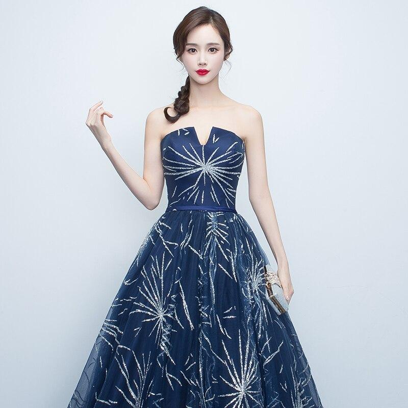 Длинное вечернее платье с блестками Bling Элегантный развертки Trian бальный наряд важно случаю выпускного вечера dreesses платье