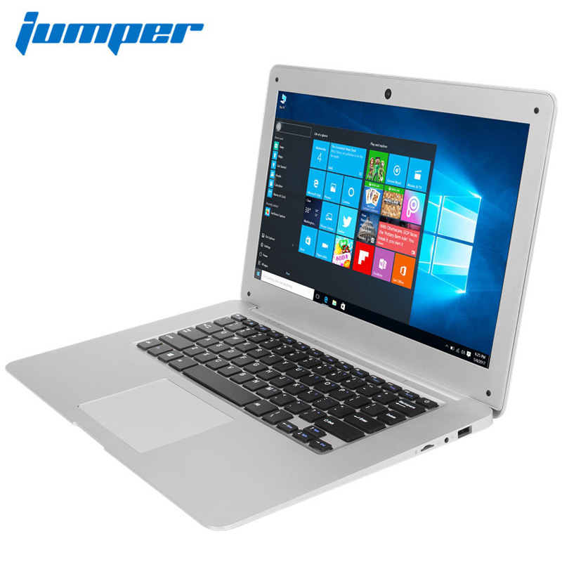 14.1'' Win10 Laptop notebook computer 1080P FHD Intel Cherry Trail Z8350 4GB 64GB ultrabook Jumper EZbook 2 notebook computador цена