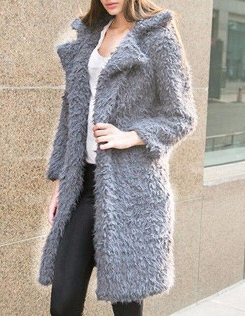 Новых горячих женщин осень и зима плюшевые бархат долго мода с отложным воротником теплое пальто и пиджаки 3 цветов