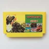 218 en 1 amarillo grande de 8 bits 60 pines tarjeta de juego