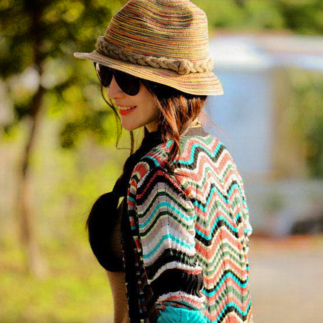 Women Summer Straw Sunhat Lady European Fashion Sun Block Seaside Elegant Hat Autumn Outdoor Acitivity Hat Sombrero Mujeres