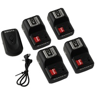 16 Channels Universal Flash Trigger Wireless RadioPT 16GY Transmitter With 4 Receivers For Nikon Canon Pentax Olympus