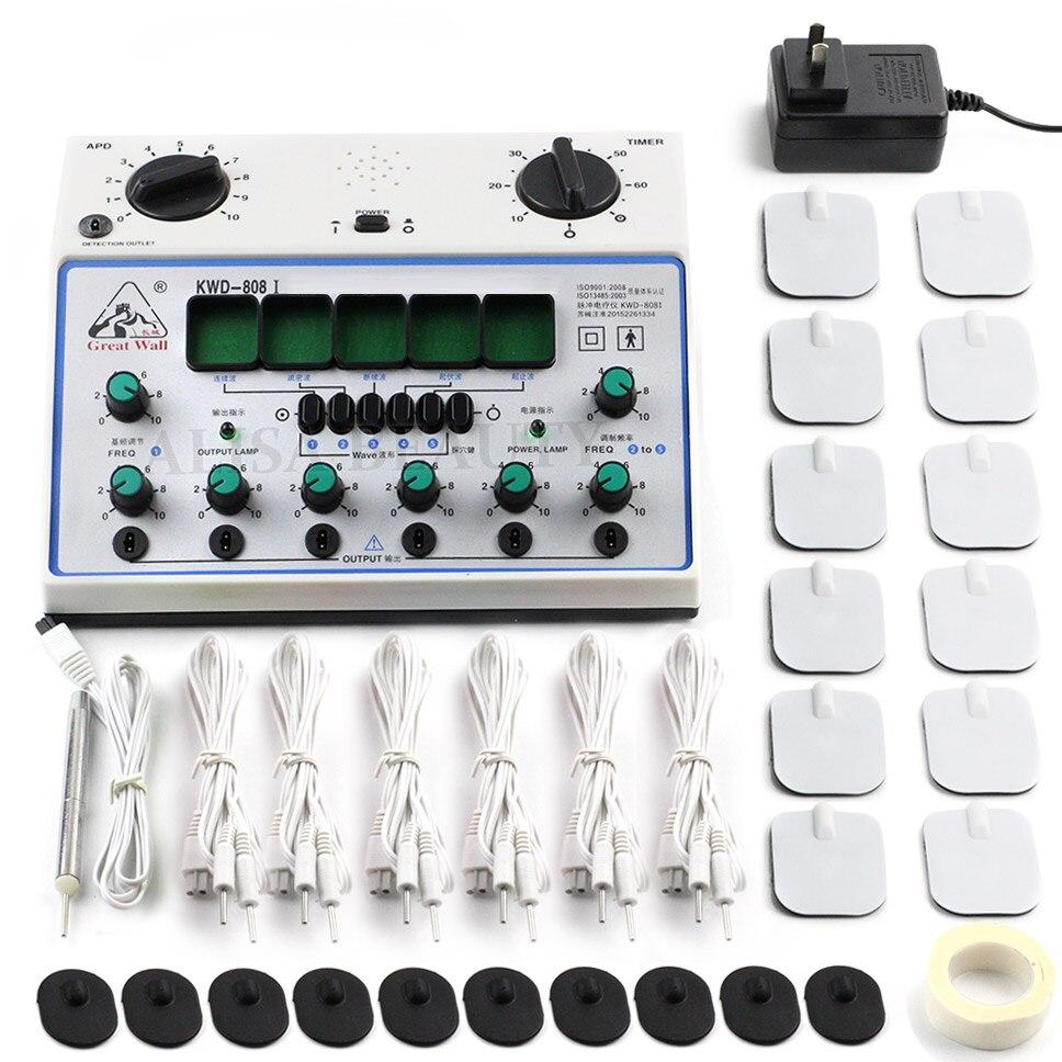 Kwd808i estimulador de cuerpo completo Relax masajeador de músculos pulso decenas de acupuntura terapia 6 canales KWD808 I KWD 808 I KWD 808I KWD808 I-in Masaje y relajación from Belleza y salud    1