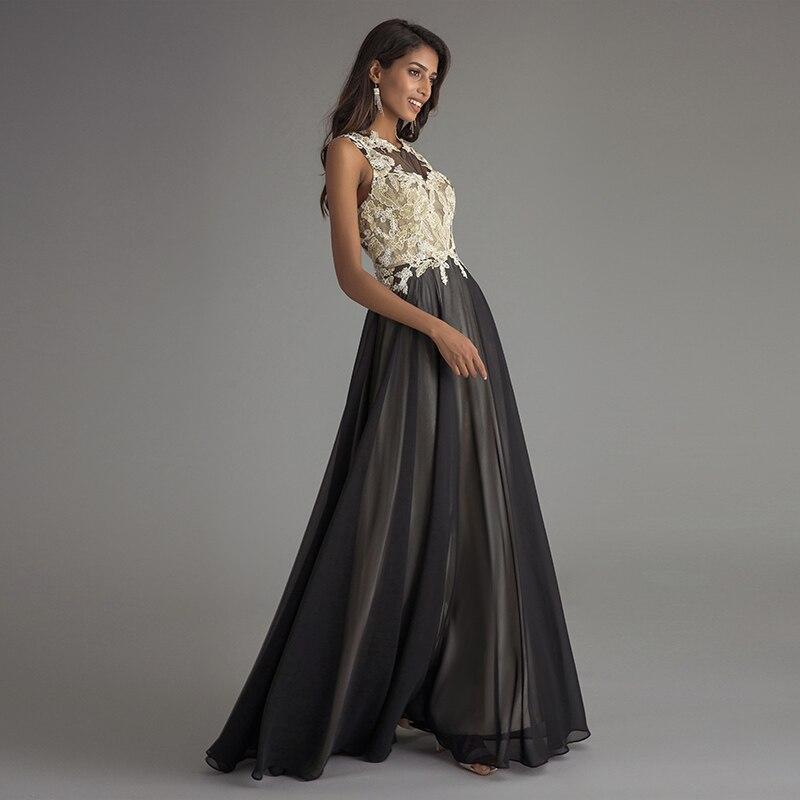 Aliexpress.com : Schwarze Formale Kleid Champagne Spitzeappliques ...