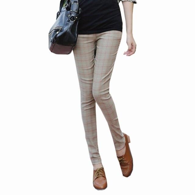 Зимние теплые брюки для беременных плед свободного покроя штаны беременным завышенной талией одежда для беременных одежда беременности брюки