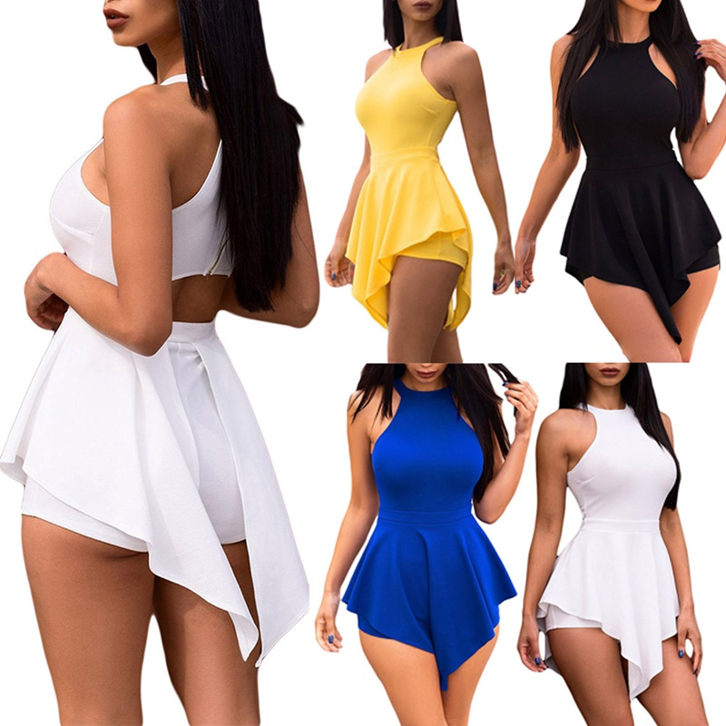 HTB1sXp7LAvoK1RjSZFwq6AiCFXaC - Women Elegant Jumpsuits & Rompers Halter Irregular Sleeveless Slim Bodycon Overalls Cocktail Club Party Bodysuit