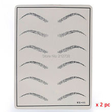 Free Shipping Microblading Pen KITS Manual pen eyebrow paste kits with 30pcs needle blade 5pcs practice skin For Learner use