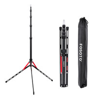 Fosoto FT 190B Red Led Light Tripod Stand Bag 2.22m Softbox For Photo Studio Photographic Lighting Flash Umbrellas Reflector