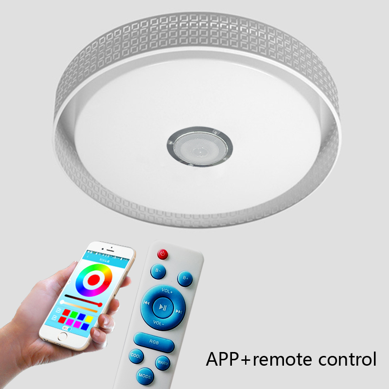 Modern LED Ceiling Light RGB Dimmable 36W APP Remote Bluetooth Music Light Living Room Baby Bedroom Ceiling Light AC85 265V|Ceiling Lights| |  - title=