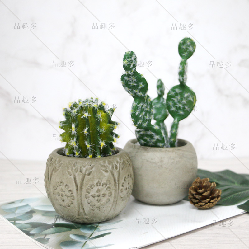 Ciment plantes de pot de fleurs silicone moule rond hémisphère à motifs centrale à béton moule d'argile artisanat