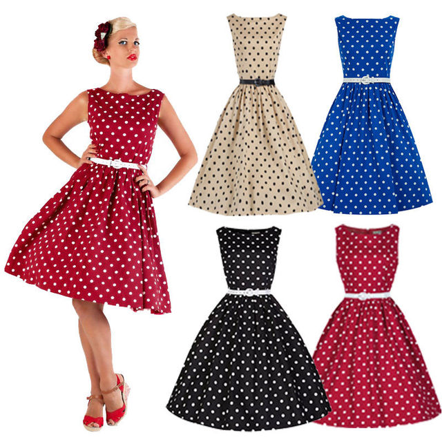 5e46511477 Hot Selling 50 S 60 S ROCKABILLY DRESS Vintage Style Swing Pinup Retro  Housewife Party Dress Sleeveless A-Line Dress
