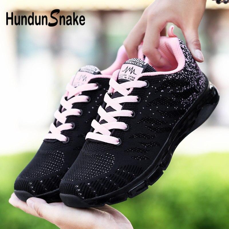 Hundunsnake Summer Sport Shoes Woman 2018 Mesh Women Sneakers Air Cushion Zapatillas Deportivas Mujer Black Runners Fitness G-33