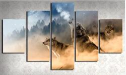 5 panels modular custom made wolf picture home room decor picture canvas paintings wall art for.jpg 250x250