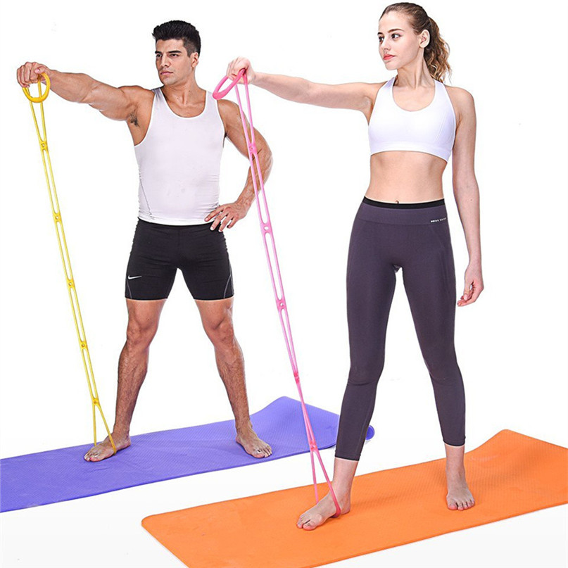 7 Holes Silicone Yoga Resistance Band Fitness Pull Rope Body Training Tools Gym Fitness Equipment #2P09 (3)