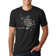 Geométrico Rubik Cube camisetas hombres moda creativa cubo mágico Camiseta  corta Camiseta algodón Tops el Big 1b5de5f742a