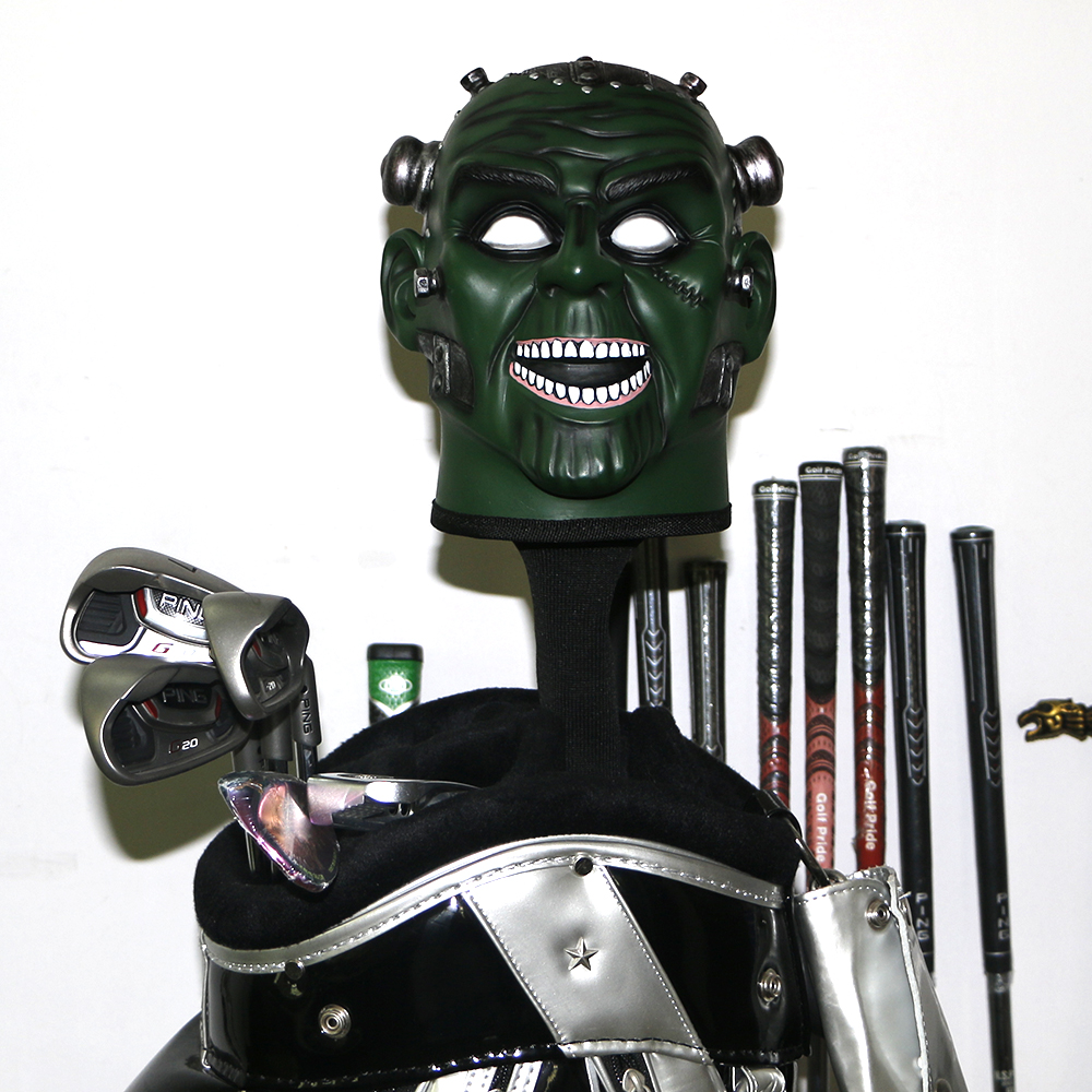 Купить с кэшбэком New Golf club driver headcover protector covers Personalized Skull golf headcover free shipping