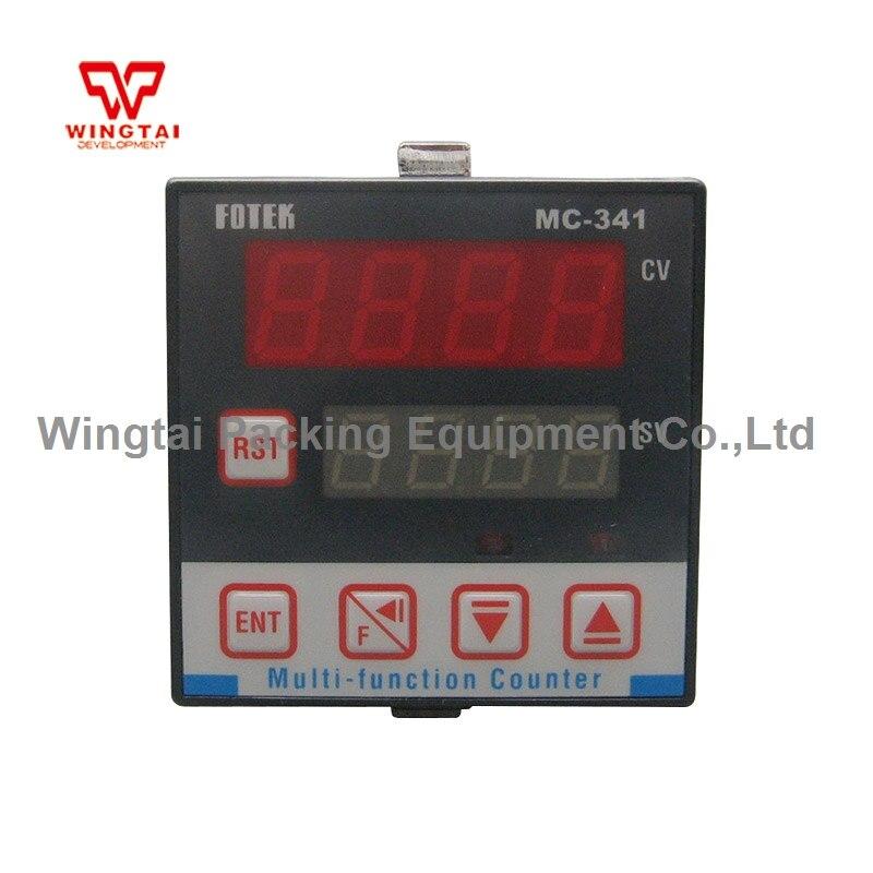 4 Digits Taiwan Fotek Digits Mini Multifunction Counter MC-341 5 digits taiwan fotek hc series digital counter hc 51p
