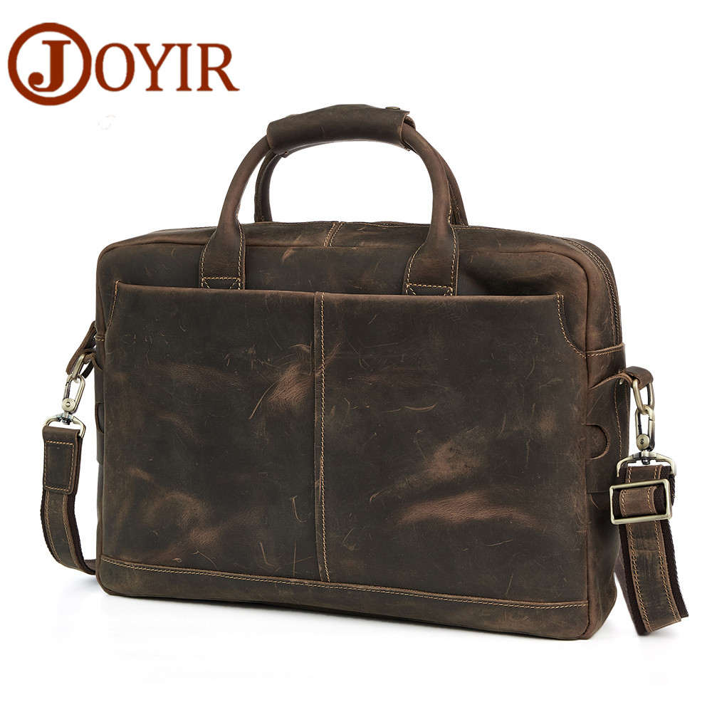 JOYIR Excellent Retro Handbags Genuine Leather Men Bags Real Leather Men Briefcase Laptop Business Handbag Messenger Bag joyir men briefcase real leather handbag crazy horse genuine leather male business retro messenger shoulder bag for men mandbag