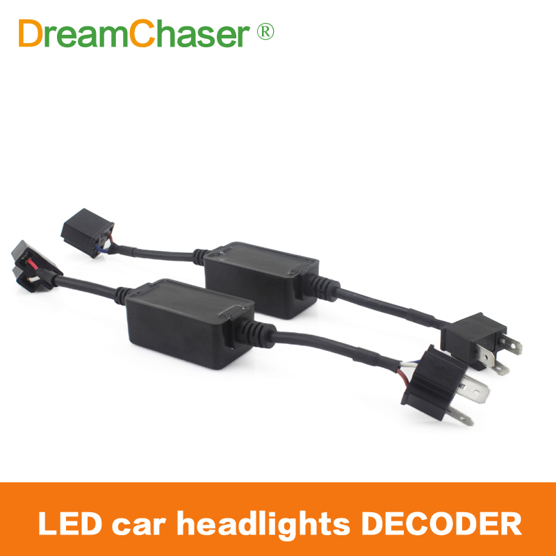 Dream Chaser 2pcs H4 H7 H8 H9 H11 HB3 HB4 LED Light Fog Xenon HID DRL Lamp Bulb Decoder Resistor Canbus Wire Harness Adapter partol h4 h13 h7 h8 h9 h11 hb3 9005 hb4 9006 car led headlight bulbs canbus fog lamp light decoder resistor wire harness adapter