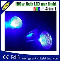 4PCS Led Par Light COB 100W rgbw Integrated Uniform Led Floor Stage Panel Light High Power Warm Yellow Party Disco Cans
