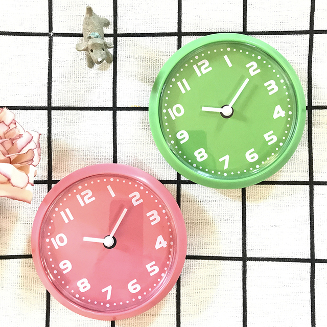 Small Digital Kitchen Fridge Magnet Wall Clocks In Simple Quartz By Blue Green