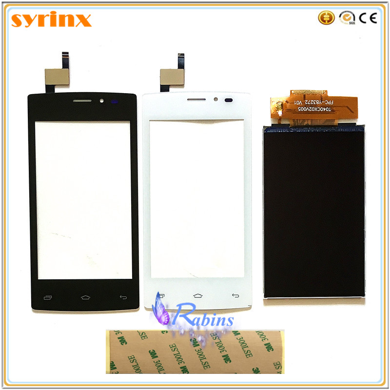 SYRINX 4.0 Inch Touch Screen LCD Display Panel Sensor For Tele2 Mini Touch Digitizer Phone Front Glass Lens 3m Tape
