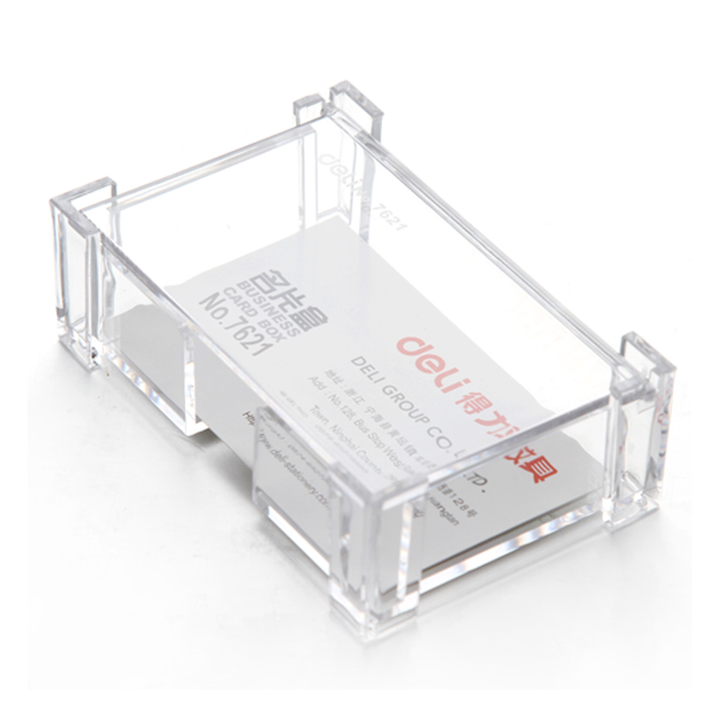 1 Pc of Plastic Transparent Business Card Holder and Card Case for ...