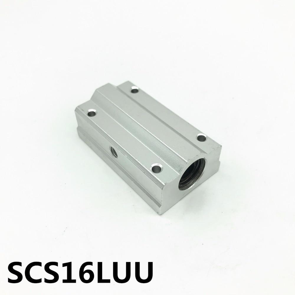 SCS16LUU SCS16LUU bearing 16mm linear motion ball bearing slide block for 16mm цена