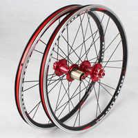 MEROCA folding bike 20inch *1-3/8 V /disc Brake Front 2 Rear 5 Bearing Ultra Smooth light 451/406 wheels