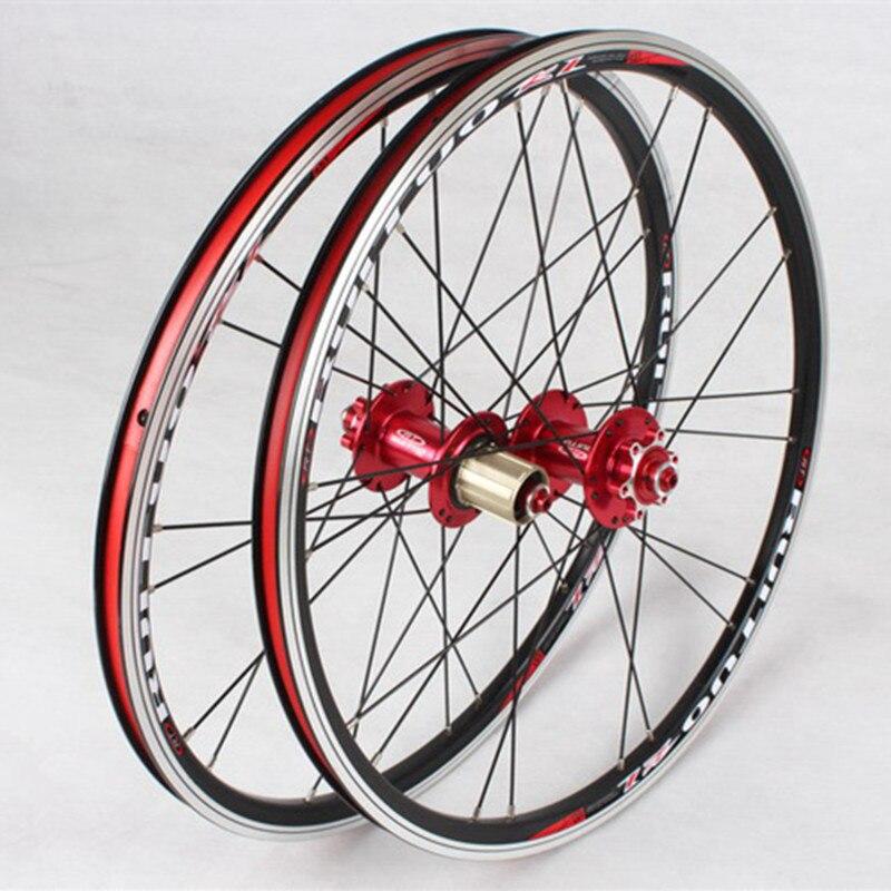 Meroca bicicleta dobrável 20 polegadas * 1-3/8 v/freio a disco dianteiro 2 traseiro 5 rolamento ultra suave luz 451/406 rodas